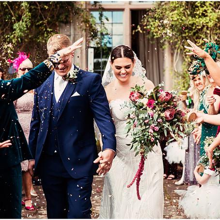BETH & MIKE'S BEAUTIFUL BOTANICAL BARN WEDDING AT ASKHAM HALL | CUMBRIA