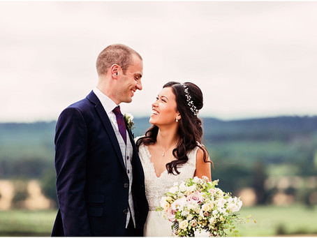 SARAH & OLLIE'S ELEGANT AND PRETTY RUSTIC GLAM BARN WEDDING AT HEALEY BARN | NORTHUMBERLAND