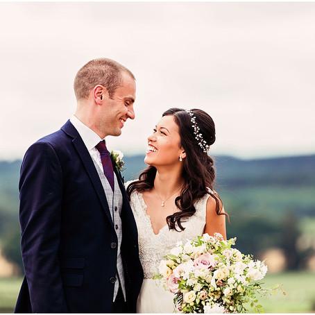 SARAH & OLLIE'S ELEGANT AND PRETTY RUSTIC GLAM BARN WEDDING AT HEALEY BARN | NORTHUMBERLAND