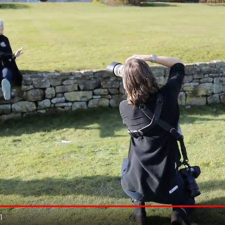 BEHIND THE SCENES ON THE MANI-STONE SHOOT AT WALWICK HALL