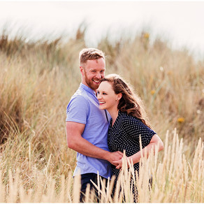 KATE & JAMES' SUMMERS BEACH PRE WEDDING SHOOT   BAMBURGH, NORTHUMBERLAND