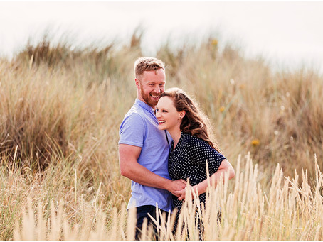 KATE & JAMES' SUMMERS BEACH PRE WEDDING SHOOT | BAMBURGH, NORTHUMBERLAND