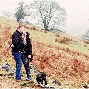 EMILY & DAVID'S FELL SIDE PRE WEDDING SHOOT ON THEIR FAMILY FARM   LAKE DISTRICT