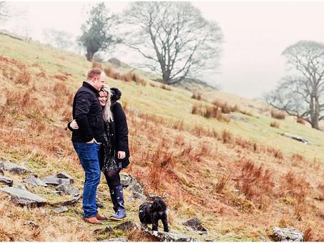 EMILY & DAVID'S FELL SIDE PRE WEDDING SHOOT ON THEIR FAMILY FARM | LAKE DISTRICT