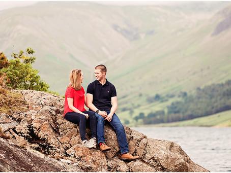 PAM & ROB'S LAKESIDE PRE WEDDING SHOOT AT WAST WATER | LAKE DISTRICT