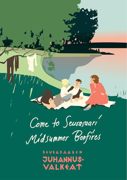 Come to Seurasaari Midsummer Bonfires