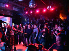 Nearly 200 people packed The Bowery Electric on February 9. Not bad for a Sunday night.