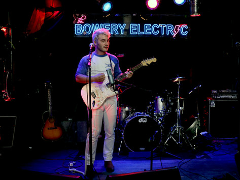 Theo Kandel performing a virtual show live from The Bowery Electric