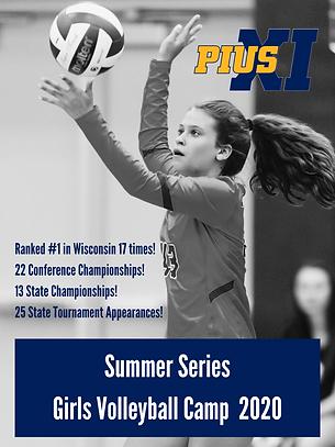 Summer Series Girls Volleyball Camp 2020