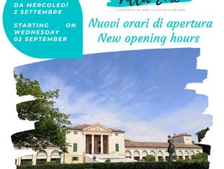 NUOVI ORARI DI APERTURA - NEW OPENING HOURS