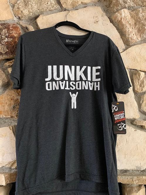 Men's  Handstand Junkie V-Neck  T-Shirt