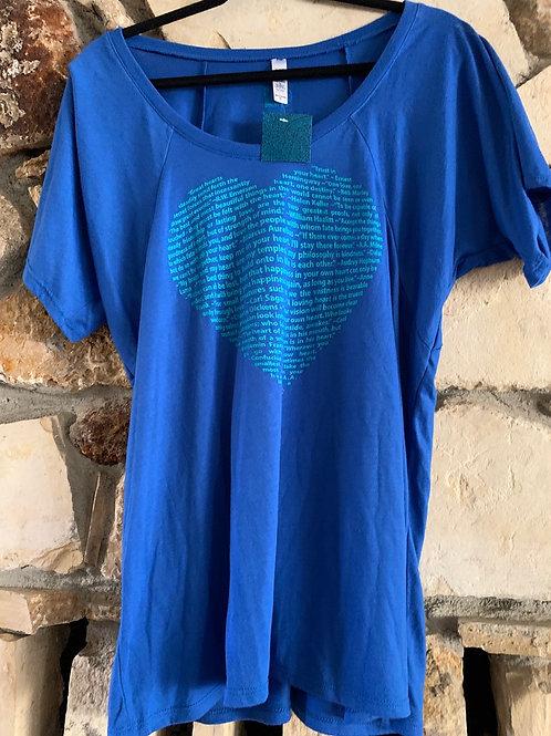 Heart Quotes Flowy Shirt -Scoopneck T-Shirt