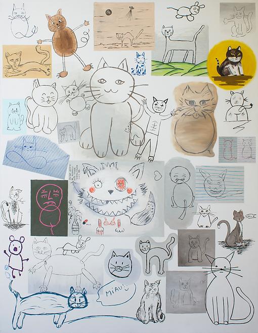 Ricardo Alves, Coleção de Desenhos de Gatos, 2019/2020