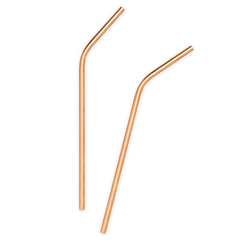 Rose Gold Stainless Steel Straw 21cm/0.6cm diameter