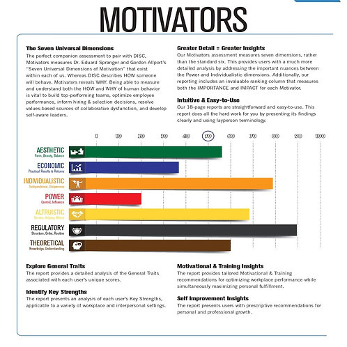 Motivators Paired With DISC
