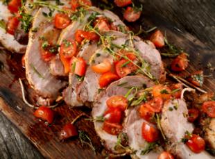 Boneless pork steak