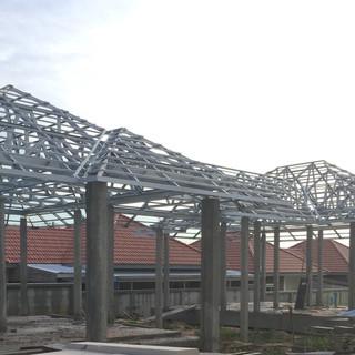 โครงหลังคาสำเร็จรูป โครงสร้างหลังคา โครงถักโครงการจักรไพศาล