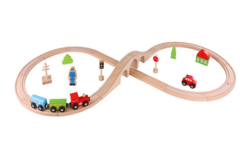 Tooky Toy Train Set - 30pcs