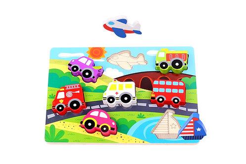 TKC393 Chunky Puzzle - Transportation