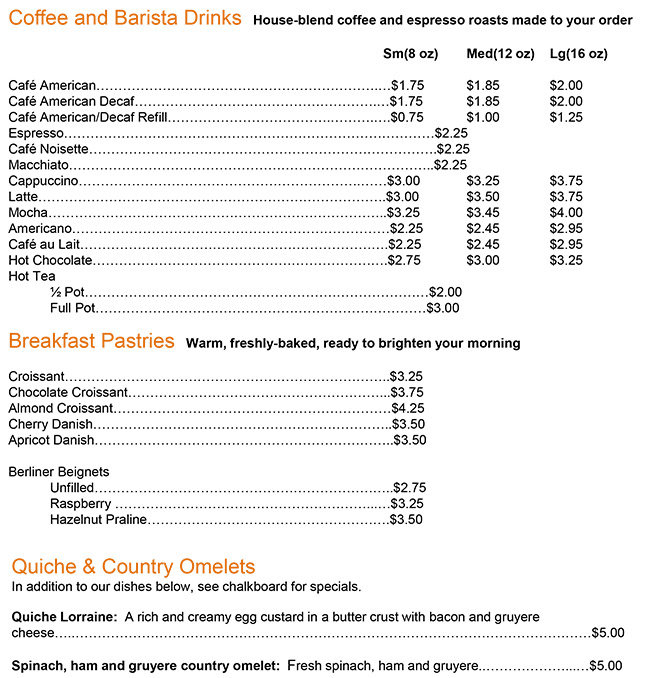North Shore Boulangerie Breakfast Menu.j