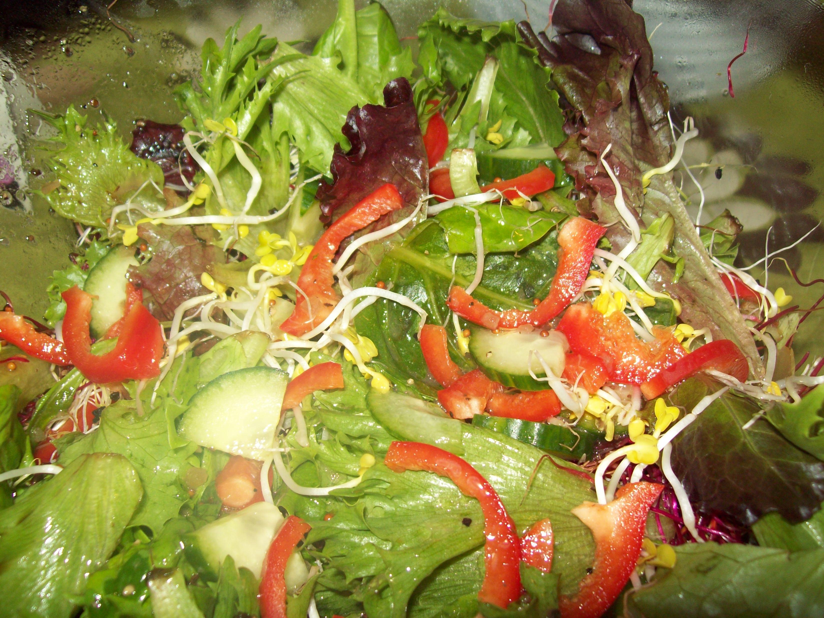 Fresh leaf salad