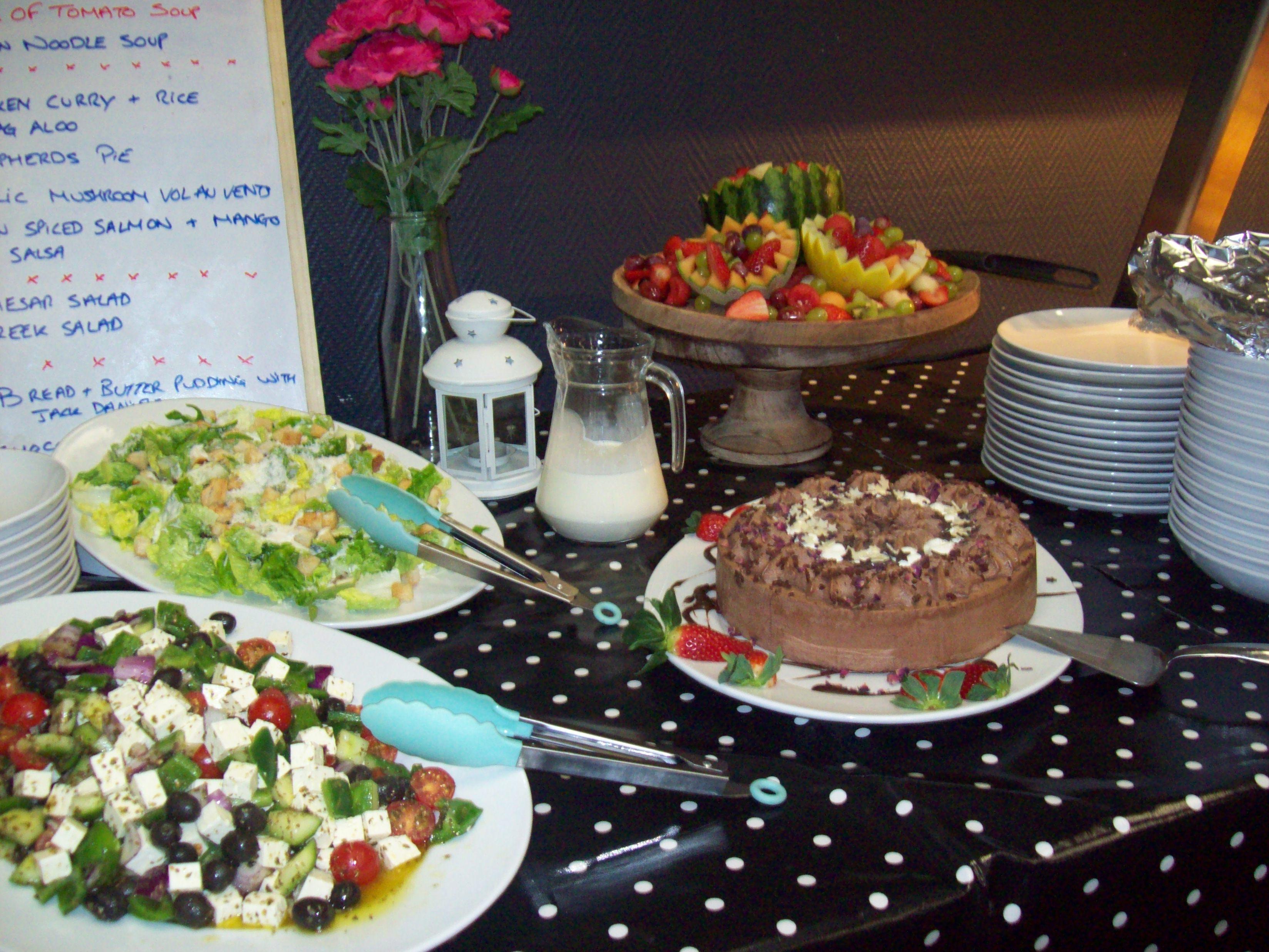 Dessert and salad station