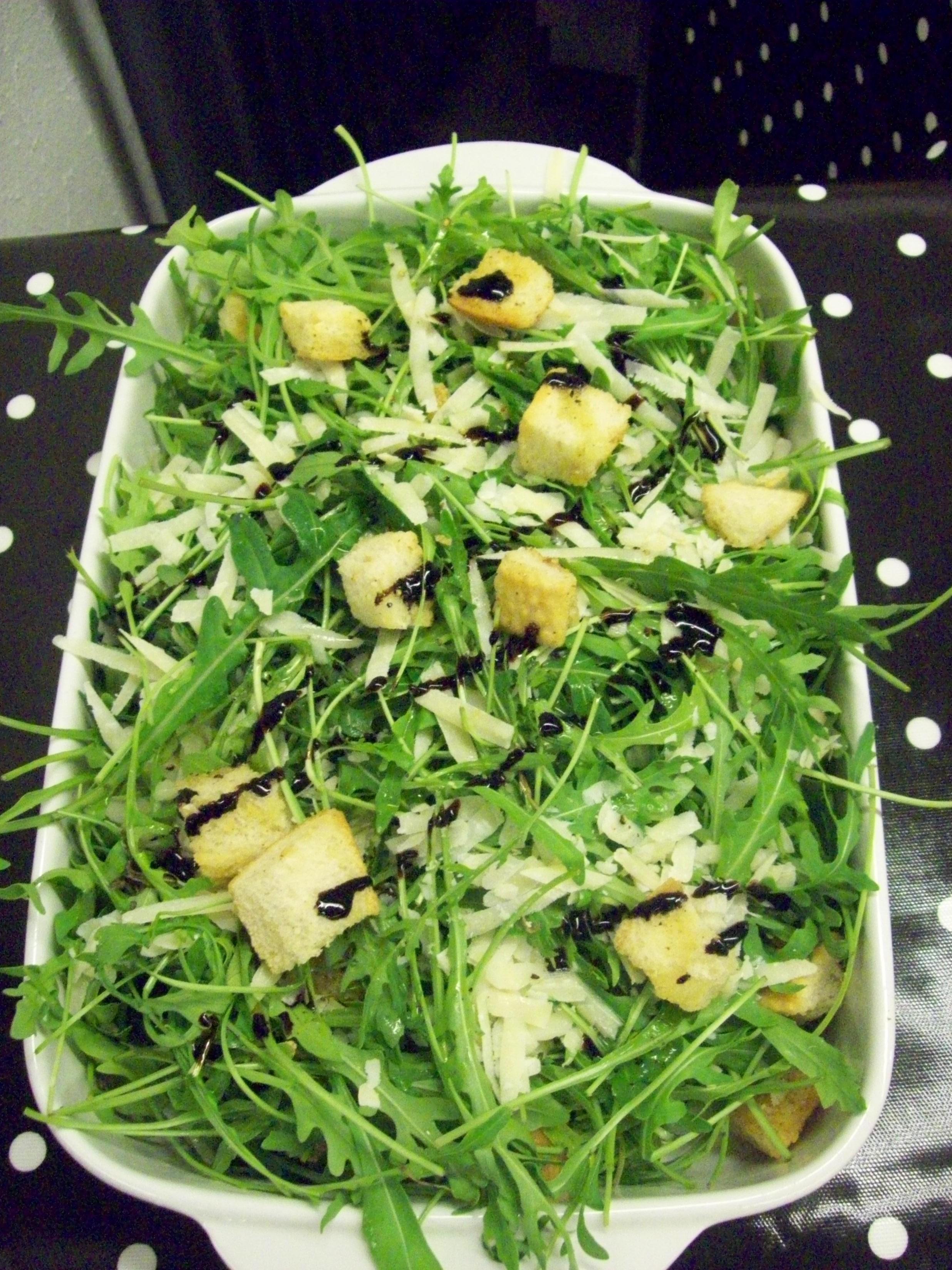 Rocket,parmesan,truffle oil salad