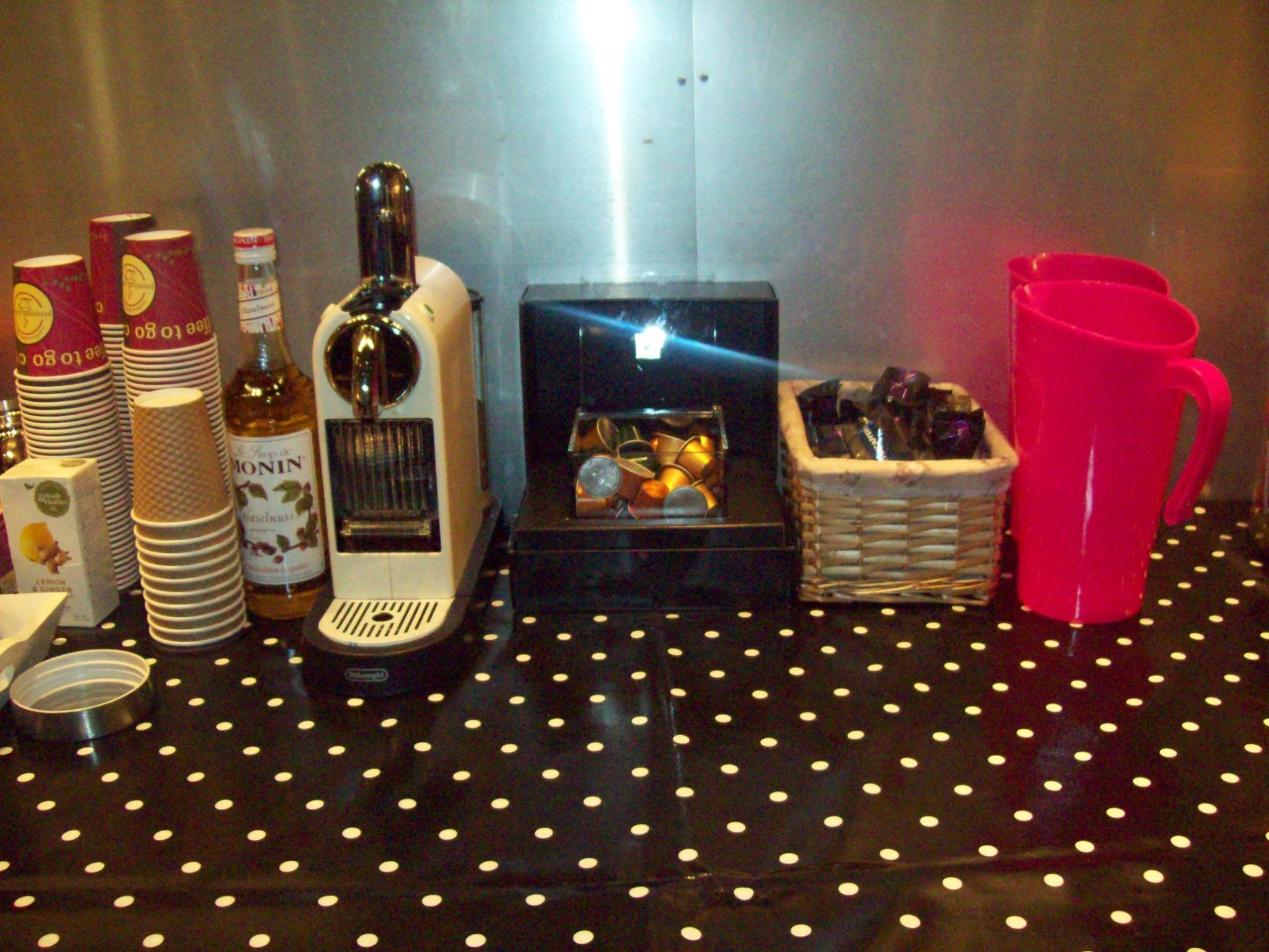 Nespresso coffee station