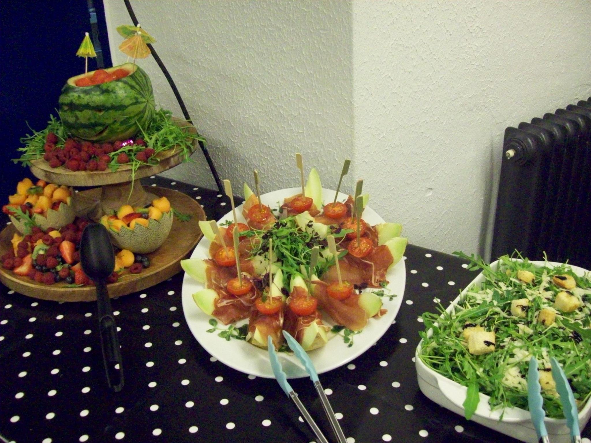Some of our salad station
