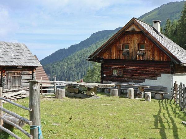 Almhütte in der Kleinsölk, Steiermark, Österreich