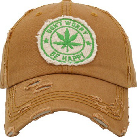 """""""Don't Worry Be Happy 4/20"""" Dad Hat"""