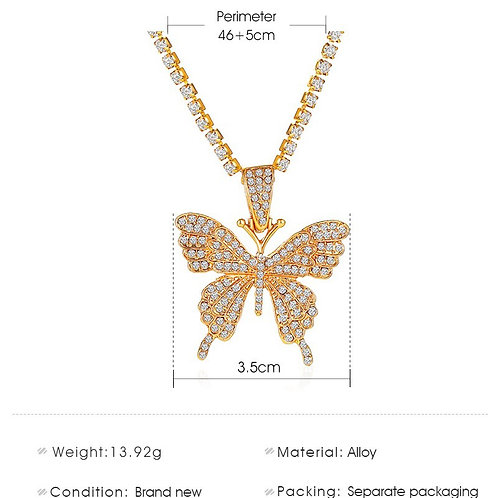 Ice Me Out Butterfly Necklace