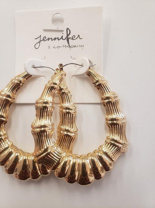 Oval Bamboo Earrings