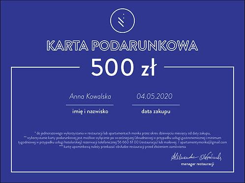 karta podarunkowa 500 zł