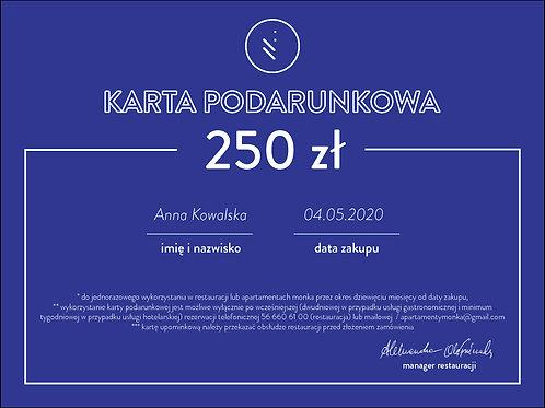 karta podarunkowa 250 zł