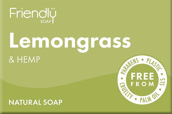 Handmade Lemongrass & Hemp Soap - Friendly