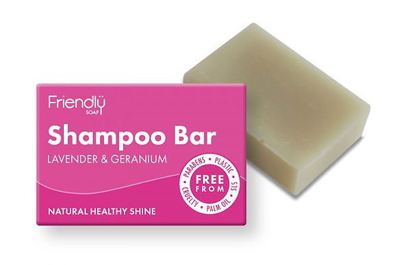 Lavender & Geranium Shampoo Bar - Friendly