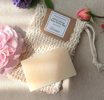 Handmade Aloe Vera Soap + Exfoliating Soap Bag