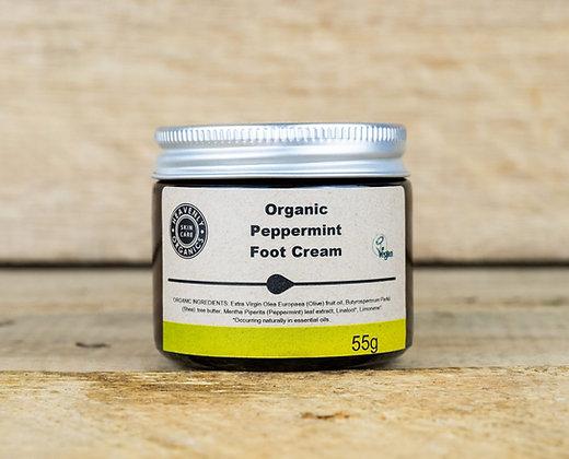 Organic Peppermint Foot Cream - Heavenly Organics