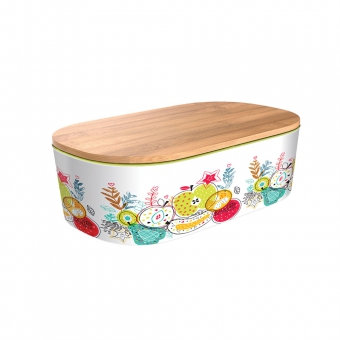 Bamboo Deluxe Lunchbox - Happy Fruits