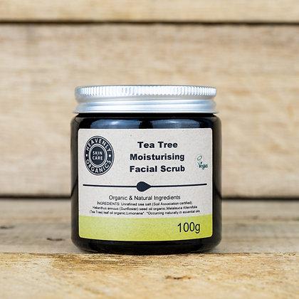 Organic Tea Tree Facial Scrub - Heavenly Organics