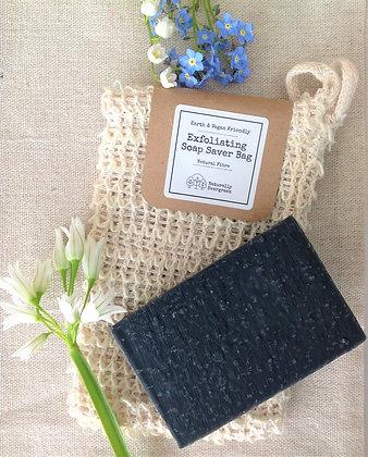 Handmade Detox Soap + Exfoliating Soap Bag