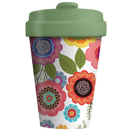 Bamboo Coffee Cup - Flower Power