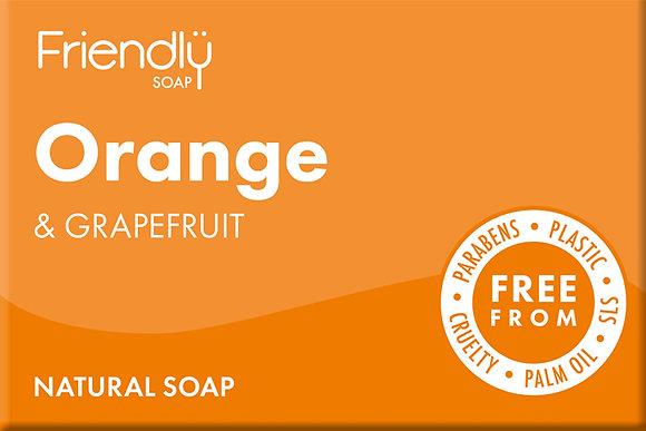 Handmade Orange & Grapefruit Soap - Friendly