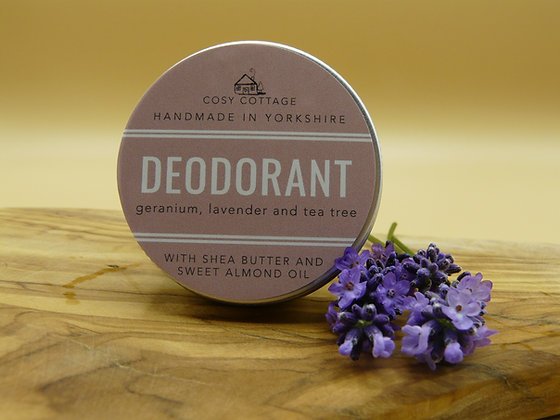 Natural Deodorant with Essential Oils - Cosy Cottage
