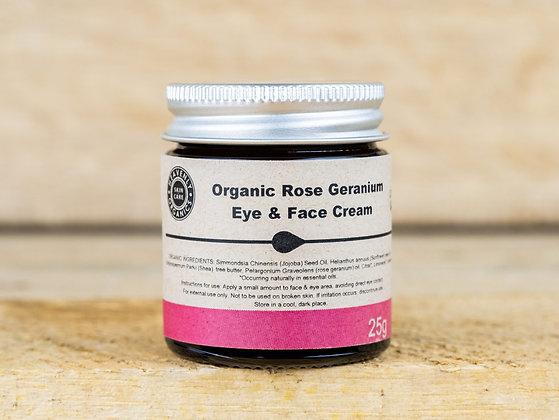 Organic Rose Geranium Face & Eye Cream - Heavenly Organics