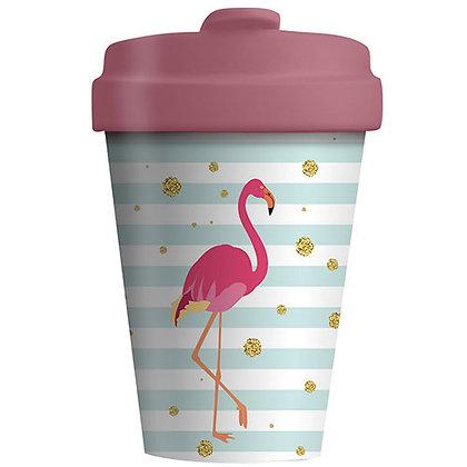 Bamboo Coffee Cup - Flamingo