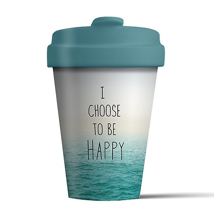 Bamboo Coffee Cup - I Choose To Be Happy