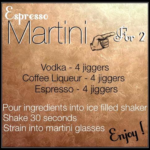 Jen's Cool Cocktail Espresso Martini recipe