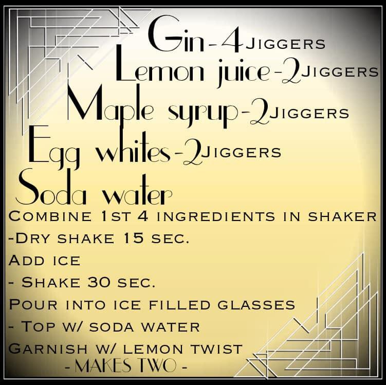 Jen's Cool Cocktail Gin Fizz recipe